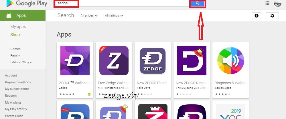 Install Zedge App
