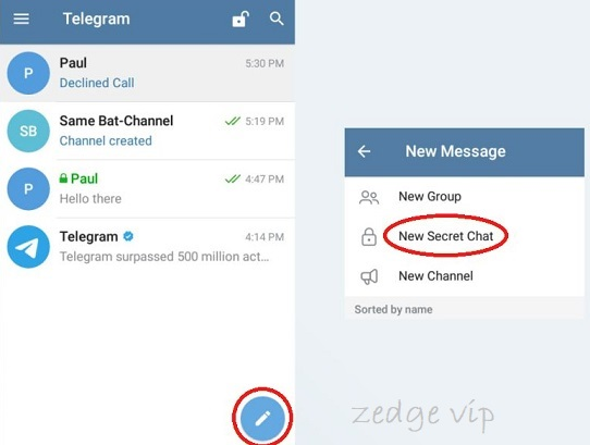 secret chat on telegram